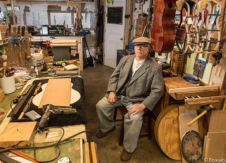 Tony Ennis in his shop