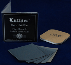 Luthier Cloth Nail File Kit