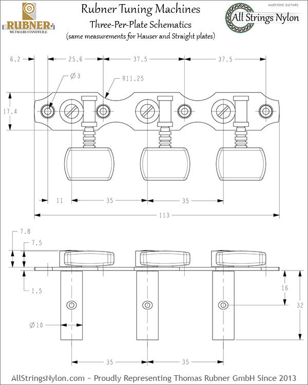 Rubner Tuning Machines Schematics 3 Per Plate